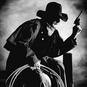 Other - 16x20 Black And White Print Of Cowboy